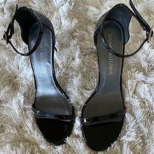 NEW Stuart Weitzman Nudistsong Black Heels 7.5